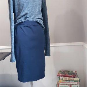 Gap cotton navy pencil skirt
